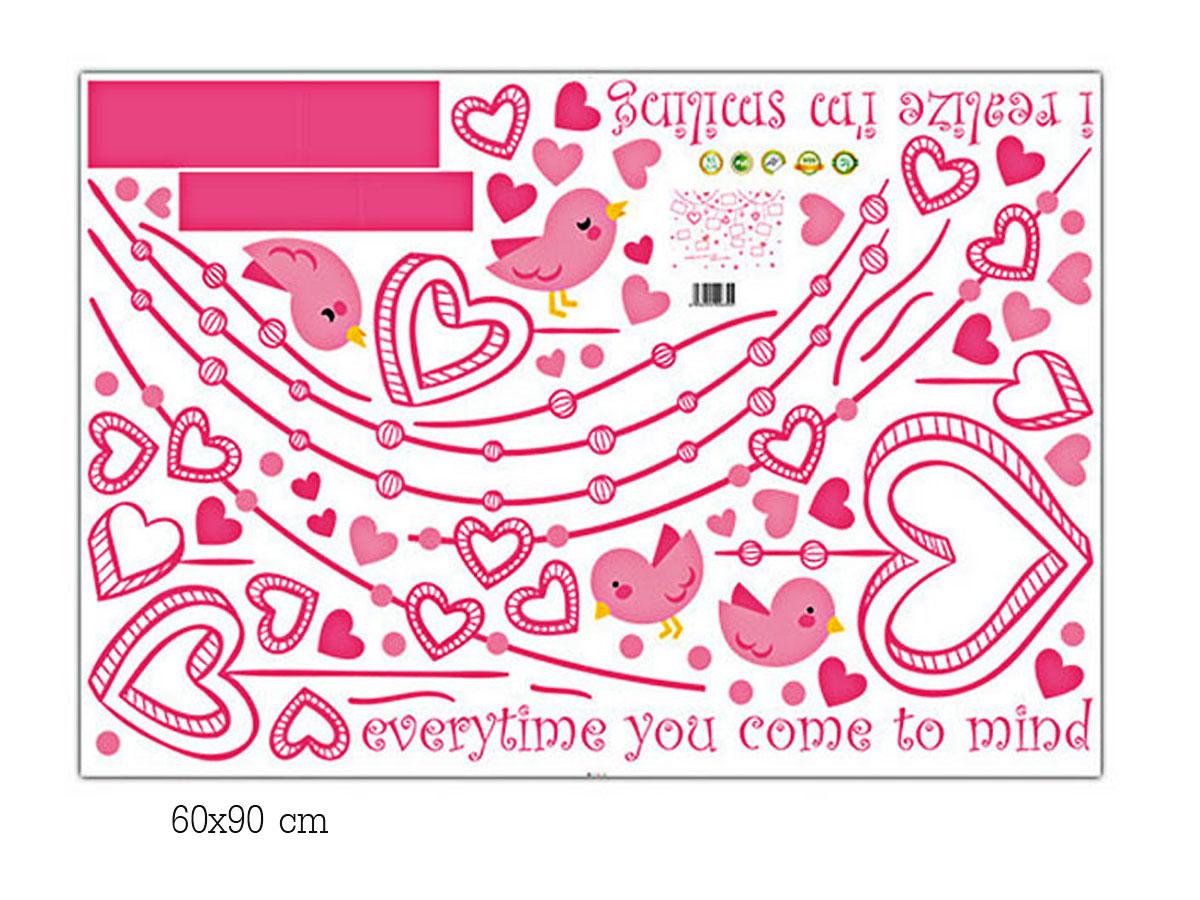 Decal dán tường - Khung ảnh dây trái tim XL8248