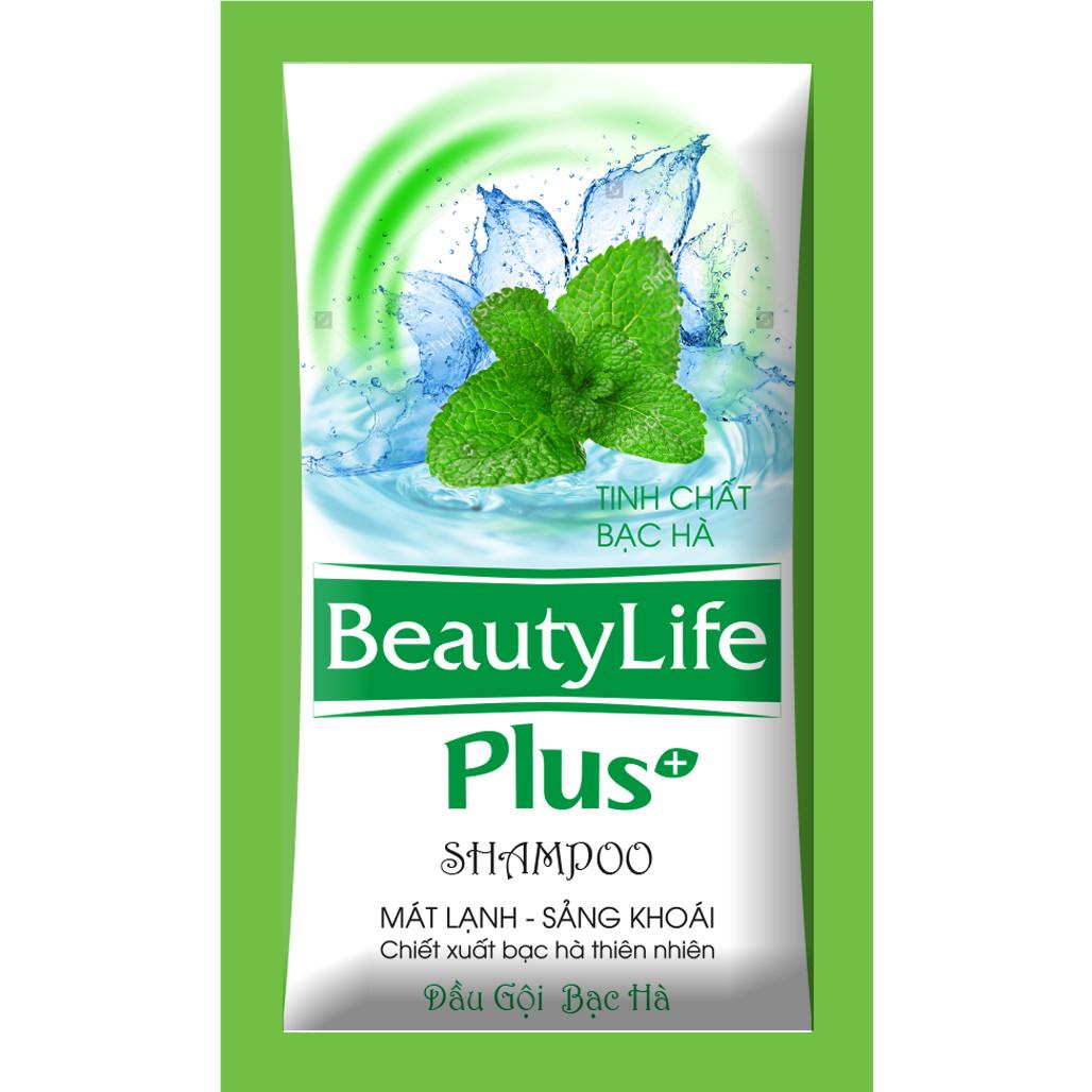 Combo 6 dây dầu gội sạch gàu bạc hà Beauty Life 10 gói x 5g