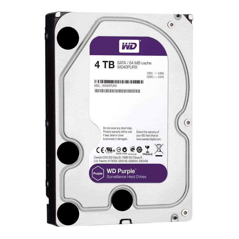 Ổ Cứng HDD Western Digital 4TB 3.5 Sata 3 64MP WD40PURZ - Hàng Chính Hãng