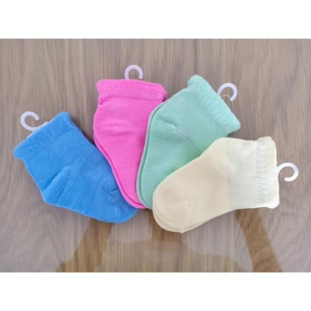Set 4 đôi vớ sơ sinh/ tất sơ sinh màu len cho bé yêu từ 0-6 tháng