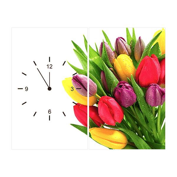 Tranh Đồng Hồ Hoa Tulip TDH06