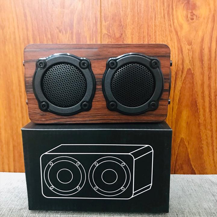 Loa Gỗ Bluetooth PKGR-KN403 Gắn USB, Thẻ Nhớ, Nghe FM, Radio PF45 – Hàng Nhập Khẩu