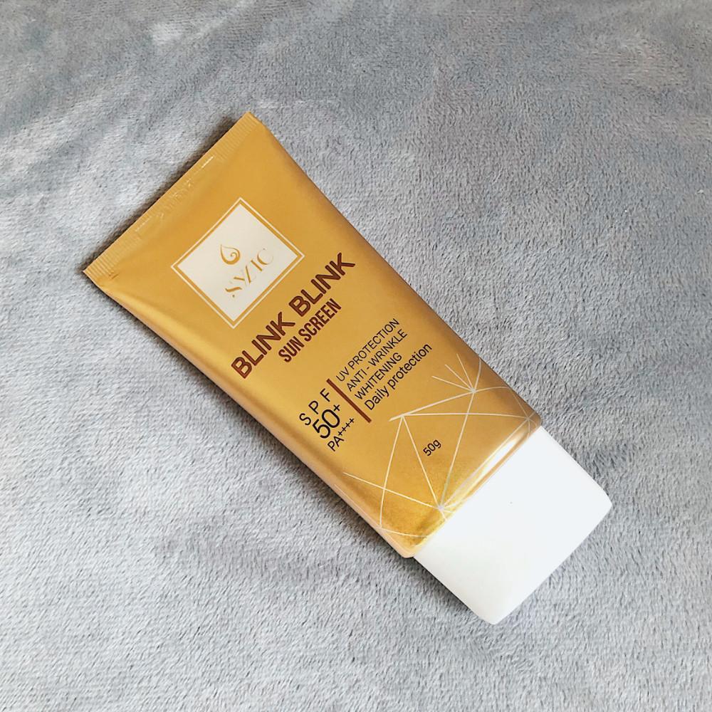 Kem chống nắng Hàn Quốc Blink Sylic SPF 50+ PA ++++ giúp da trắng sáng, nhẹ nhàng, tạo cảm giác mịn màng cho da