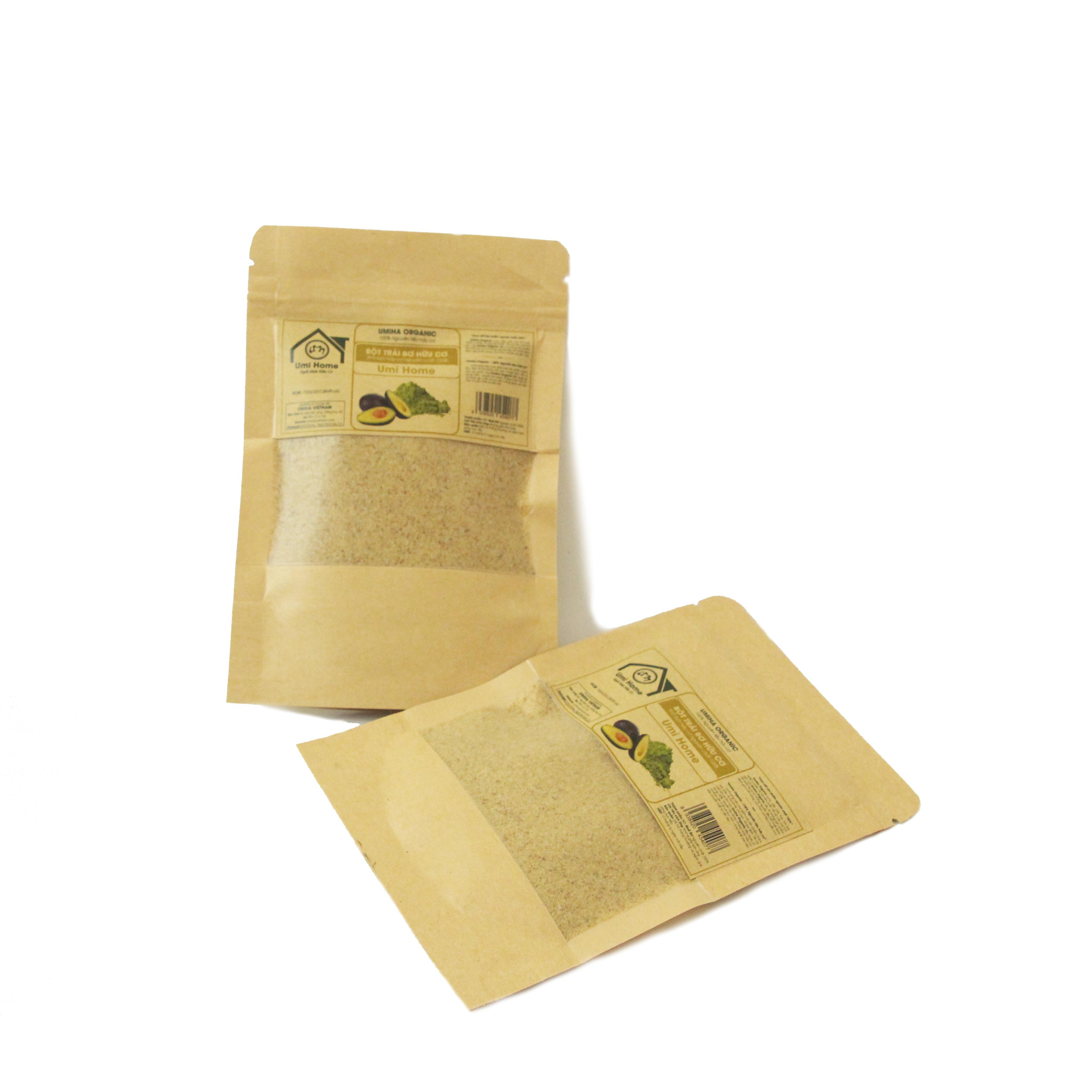Bột Trái Bơ nguyên chất UMIHOME (35g) dùng đắp mặt nạ dưỡng ẩm da ngăn chặn lão hoá, dưỡng trắng da tự nhiên