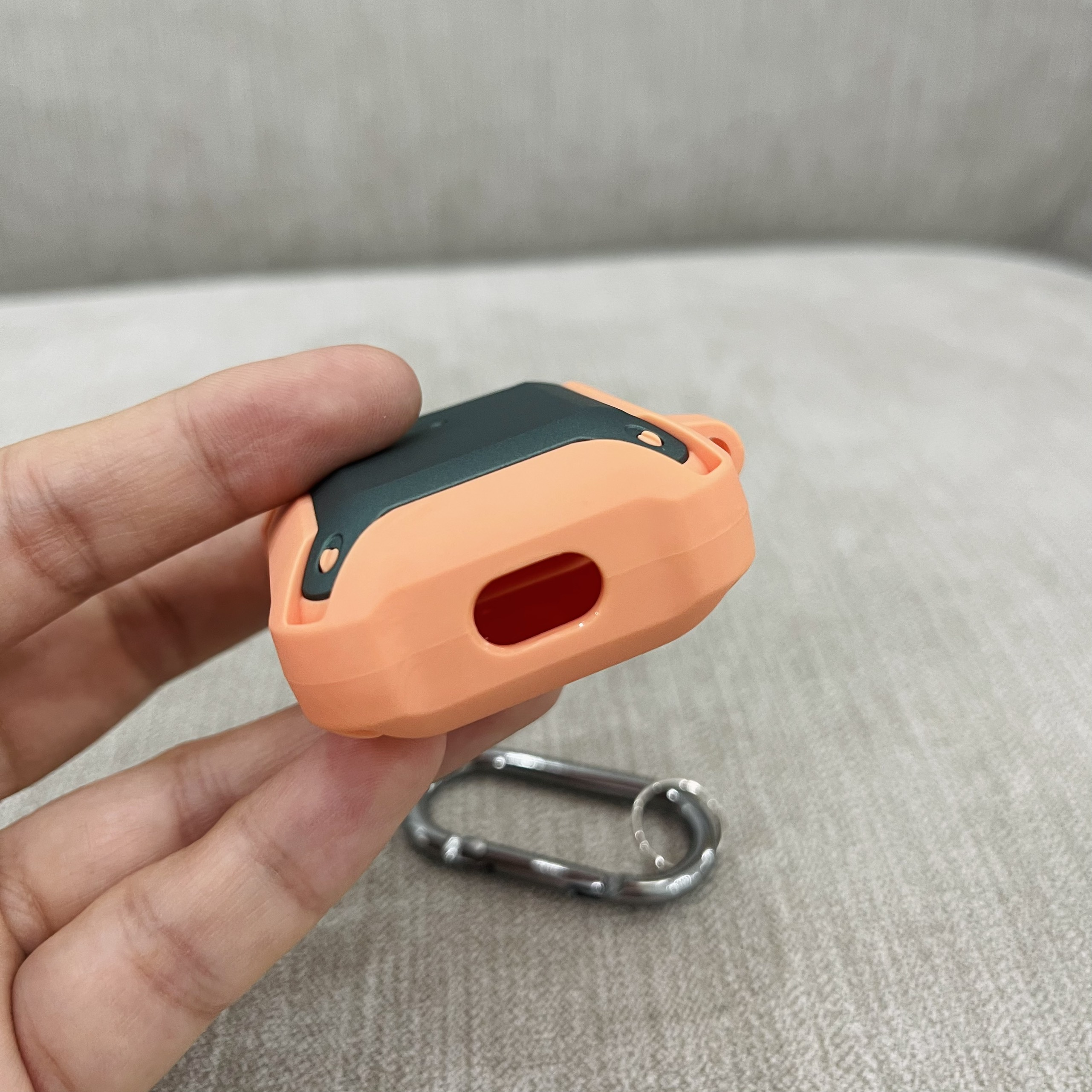 Case Chống Sốc 360 Độ Cho Airpods 1 / Airpods 2 - Màu Cam