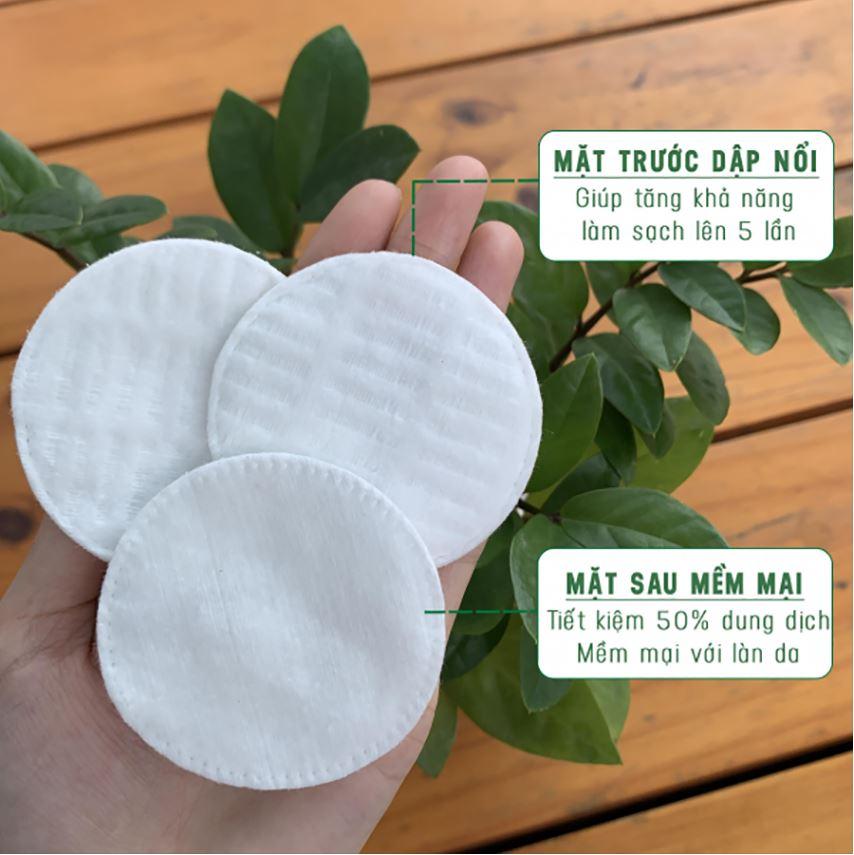 Bông Tẩy Trang 100% Cotton Ceiba Tree 120 miếng