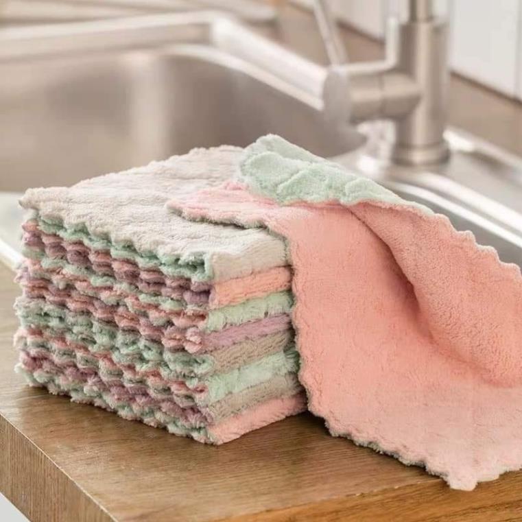 combo 10 khăn lau mền không viền