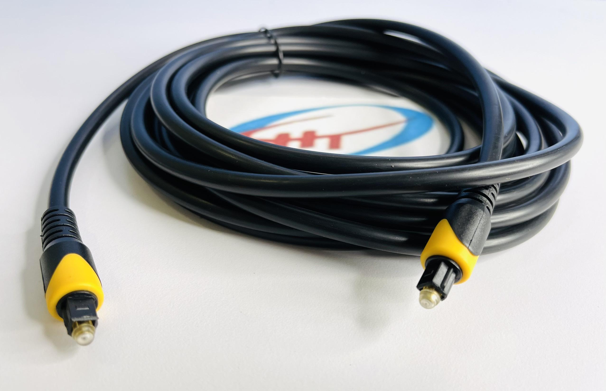 Dây audio quang (Toslink Optical) đầu nhựa dài 5M HIMEDIA 6.0 - Hàng chính hãng