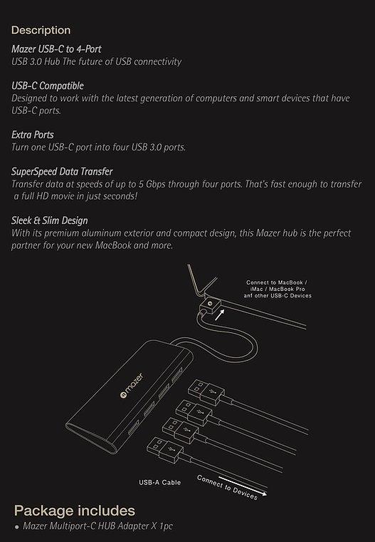 Cổng Chuyển Đổi Mazer USB-C to 4K-HDMI+VGA Dual Display Adapter - hàng chính hãng