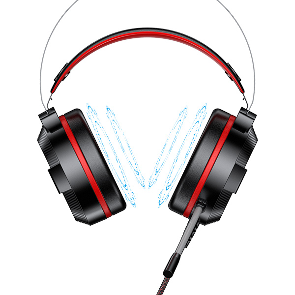 Tai nghe chụp tai Gaming - [[ Chuyển Đổi 7 Màu ]] - GAMEN GH1100 - Hàng Chính Hãng