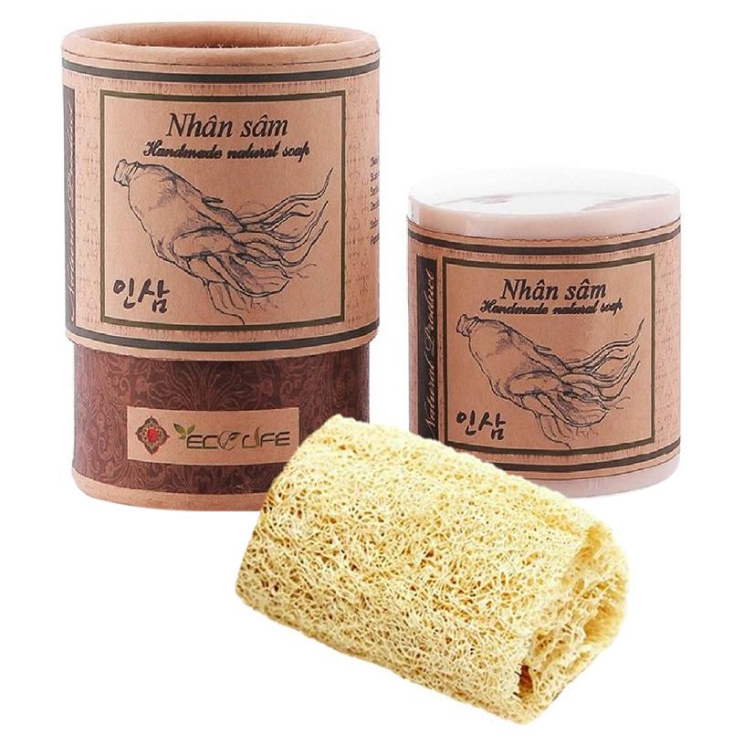 Xà phòng sâm tặng xơ mướp - Ginseng Handmade Soap