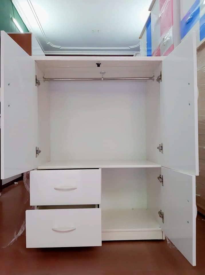 Tủ nhựa đài loan 2 cánh 2 ngăn kéo 1 cánh mở (cao 1m15 x rộng 85cm x sâu 45cm)