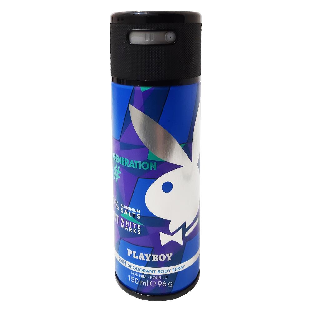 Xịt Khử Mùi PLAYBOY Nam Cao Cấp 24h 150ml PHÁP