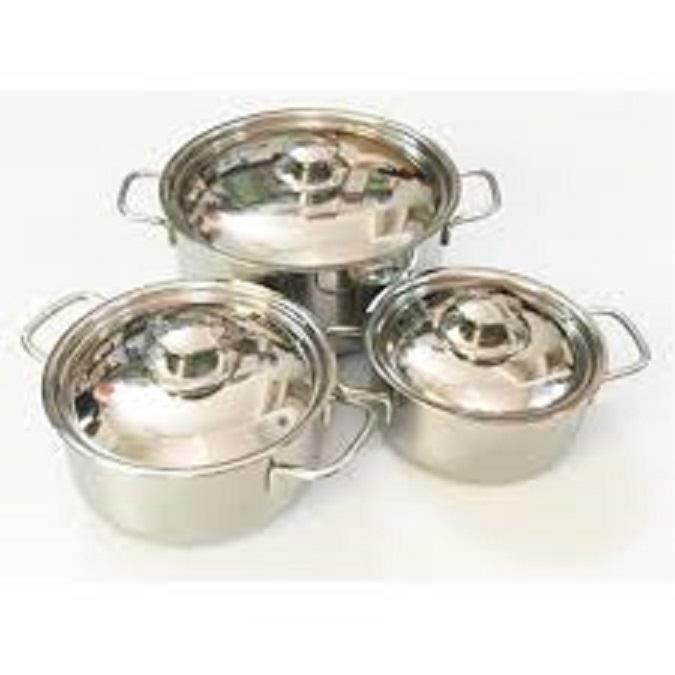 Bộ 3 nồi inox dùng được bếp từ và các loại bếp khác