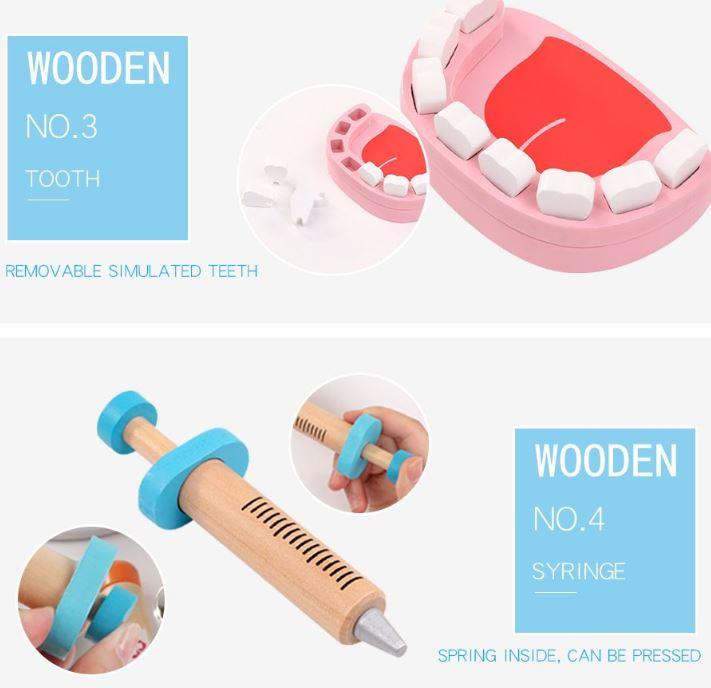 Bộ đồ chơi gỗ bác sỹ