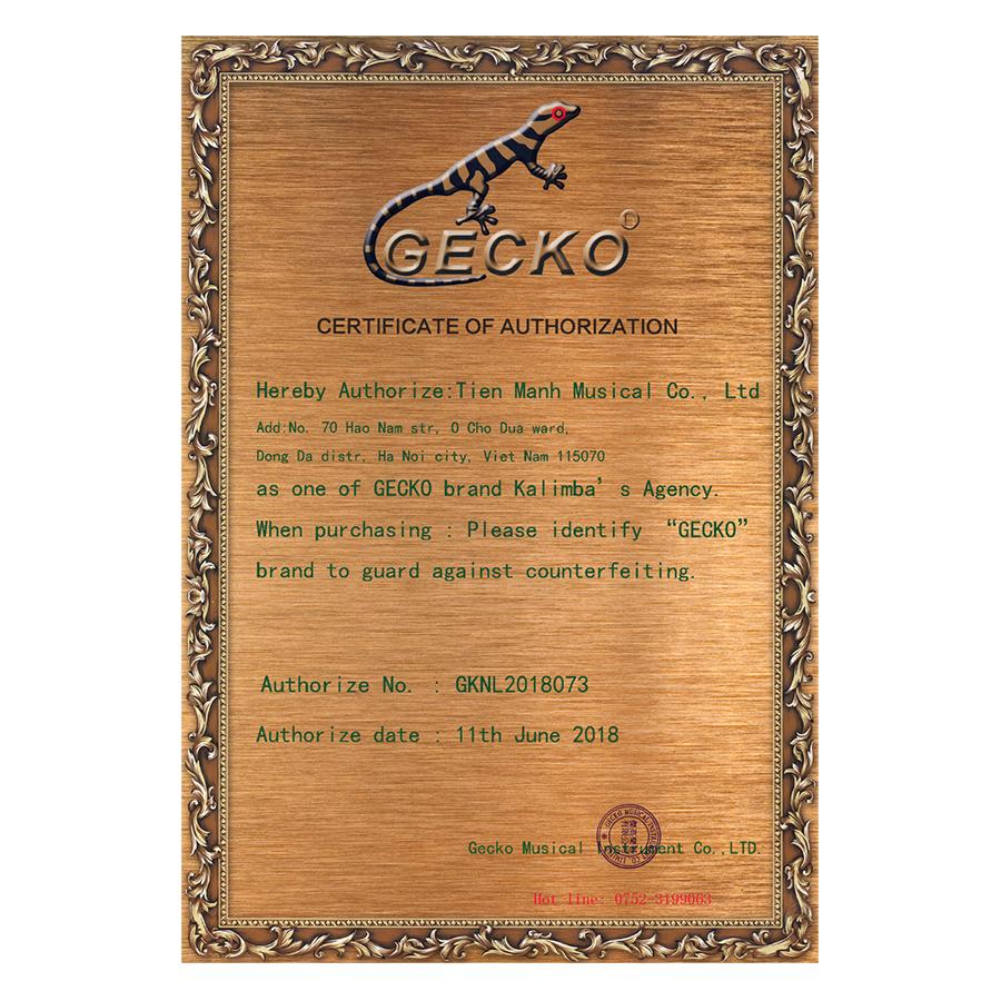 Đàn Kalimba Gecko 17 Phím Gỗ Phong Vân Hổ MC-S (Đỏ cam) Kèm Kèn Kazoo