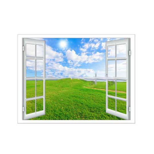 Tranh dán tường cửa sổ 3D T3DMN 006