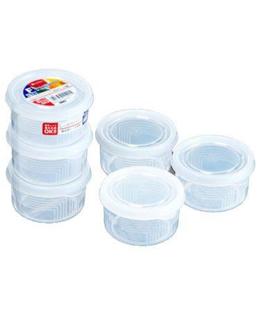 Set 3 hộp nhựa tròn 180ml nội địa Nhật Bản