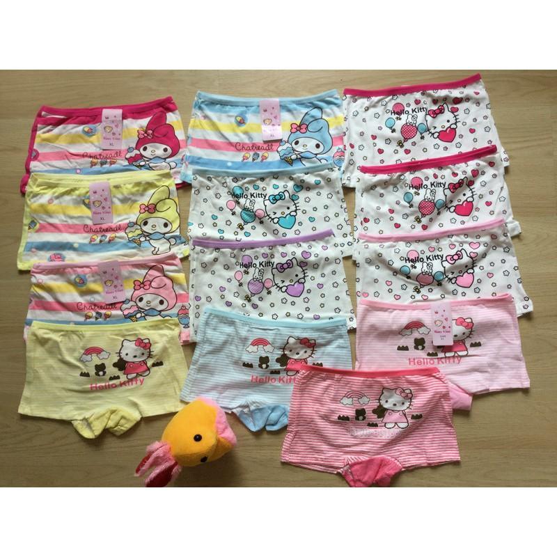 Set 6 Quần chíp bé gái cutte từ 3 đến 8 tuổi