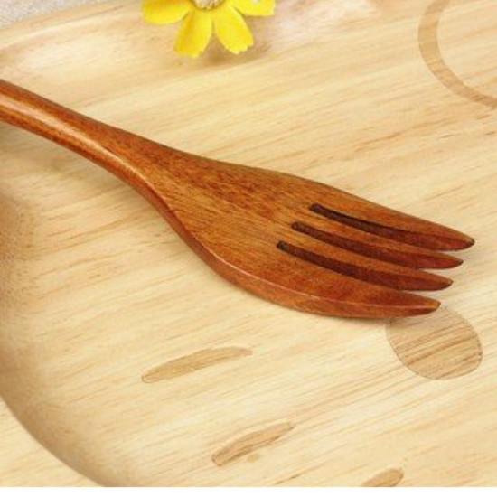 Nĩa Gỗ Handmade Cán Dài Phong Cách Retro Dùng Để Ăn Uống Và Chụp Ảnh