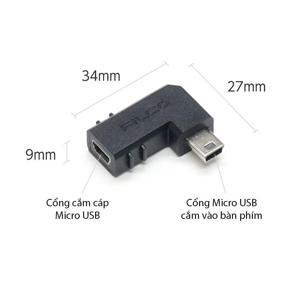 Đầu chuyển góc 90 độ Filco (Mini-USB) - Hàng chính hãng