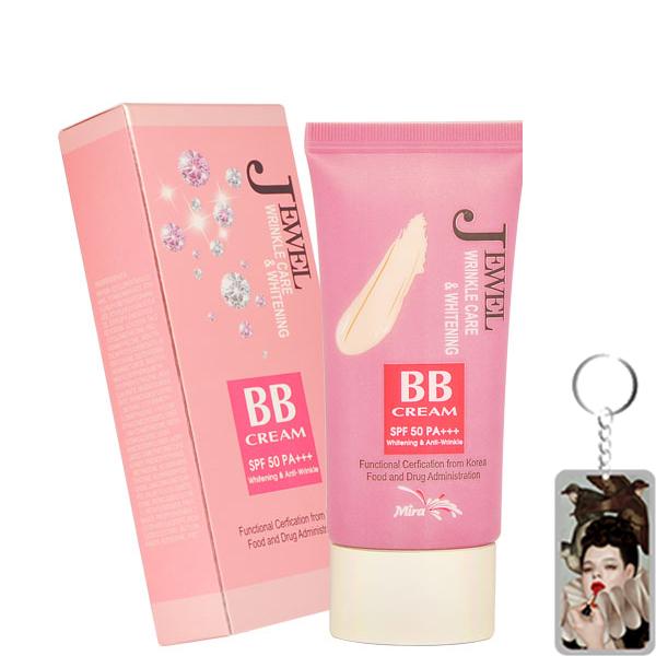 Kem Lót BB Đa Chức Năng Mira Jewel Wrinkle Care & Whitening Hàn Quốc 30ml tặng kmf móc khoá