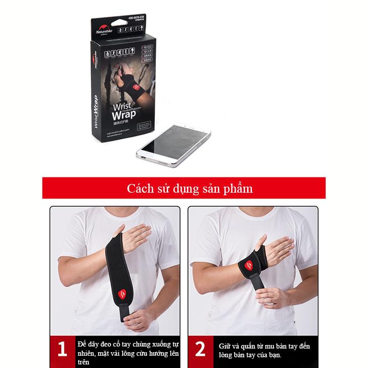 Bảo vệ cổ tay - Băng quấn cổ tay thể thao tập gym nâng tạ bóng đá boxing Băng cuốn cổ tay Naturehike hàng chính hãng