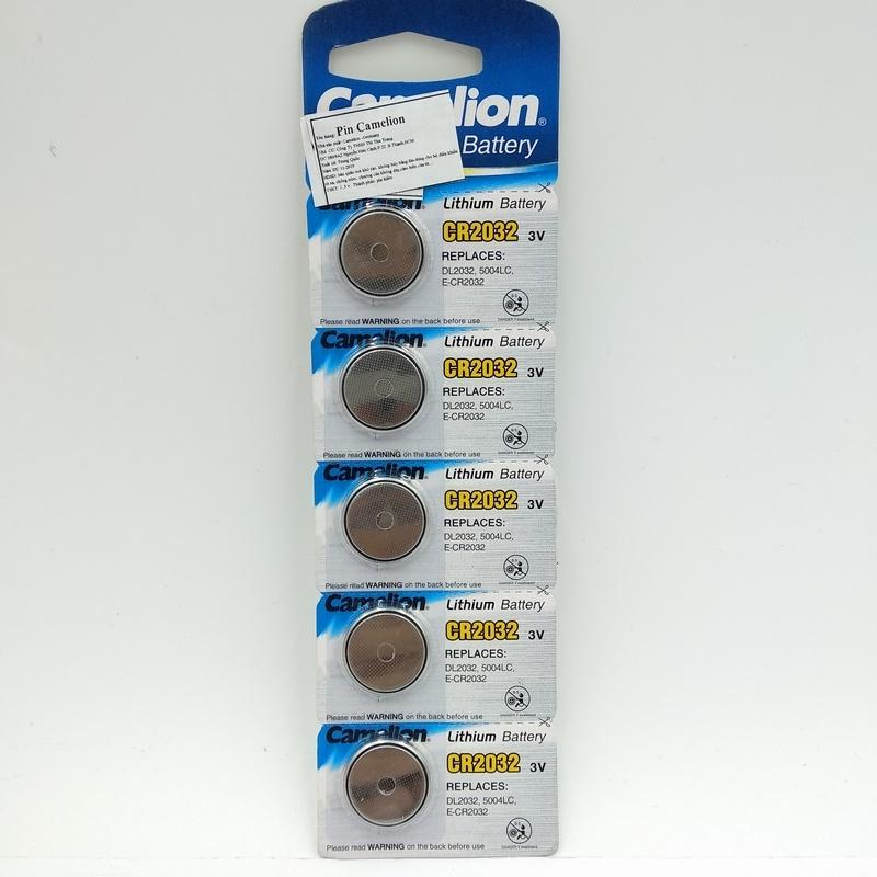Bộ 5 Pin Cúc Camelion 3V CR2032