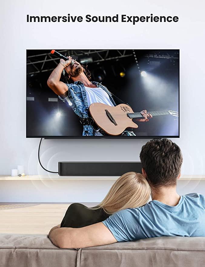 Dây cáp quang Toslink âm thanh kỹ thuật số SPDIF dùng cho TV smart, bộ khuếch đại, Xbox One, PS4, PlayStation, Soundbar, đầu phát Blu-Ray, đầu CD UGREEN AV122 - Hàng chính hãng