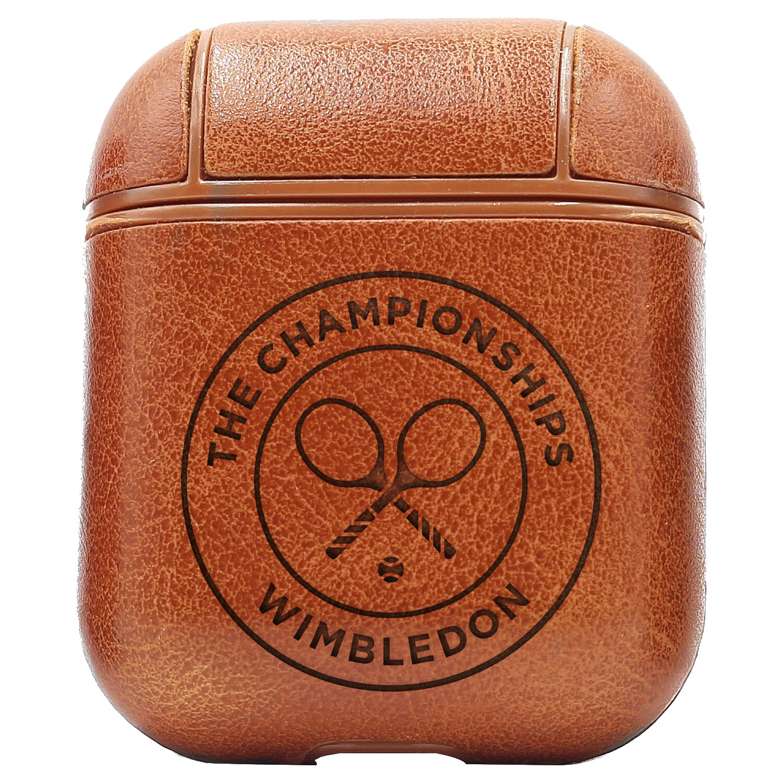 Bao Da Cover Apple Airpods 1 / 2 Premium  Khắc Hình Logo Wim Symbol Wimbledon