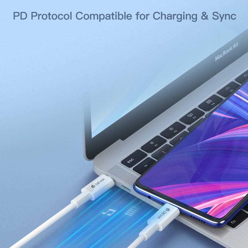 Dây sạc nhanh Devia Smart PD Type C to Type C 100cm Hàng chính hãng