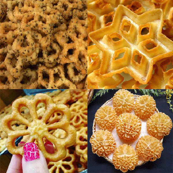 Combo 8 Khuôn Làm Bánh Nhúng Bằng Gang Nhiểu Kiểu Độc Đáo