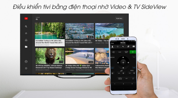 Android Tivi OLED Sony 4K 55 inch KD-55A8G - Video & TV SideView