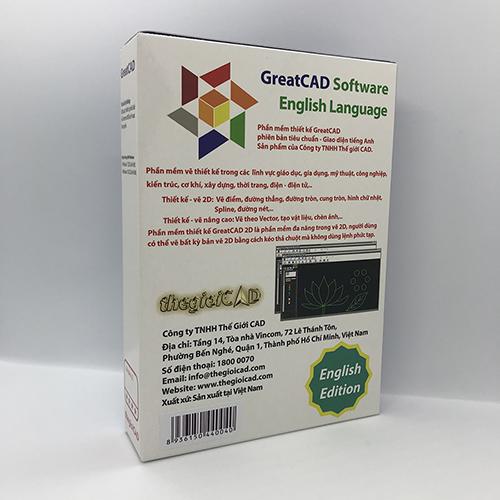 Phần mềm thiết kế GreatCAD phiên bản tiêu chuẩn – Giao diện tiếng Anh - Hàng chính hãng