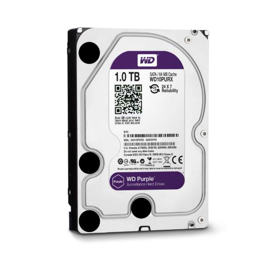 Ổ cứng HDD Western Purple 1TB/5400 Sata 3 64Mb,  - Hàng chính hãng