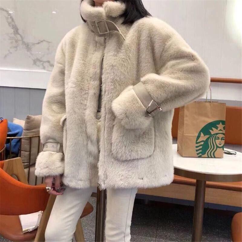 Áo khoác lông cao cấp kiểu dáng trẻ trung Hàn Quốc