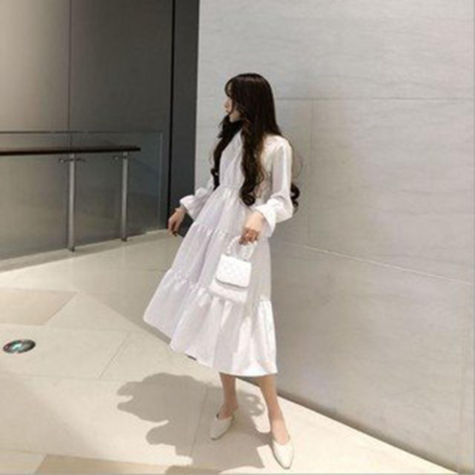 Váy đầm xòe nữ thắt nơ siêu xinh
