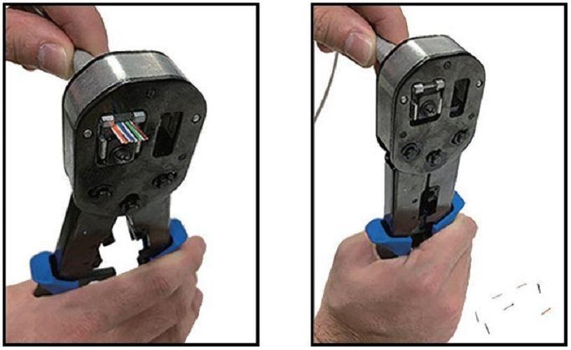 Crimping tool Pass Through ezi-PLUG  - kèm bấm mạng cho đầu RJ45 xuyên thấu - Hàng chính hãng Dintek