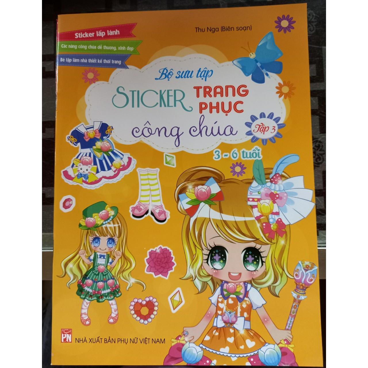Bộ sưu tập sticker trang phục công chúa - Tập 3 ( dành cho bé 3- 6 tuổi )