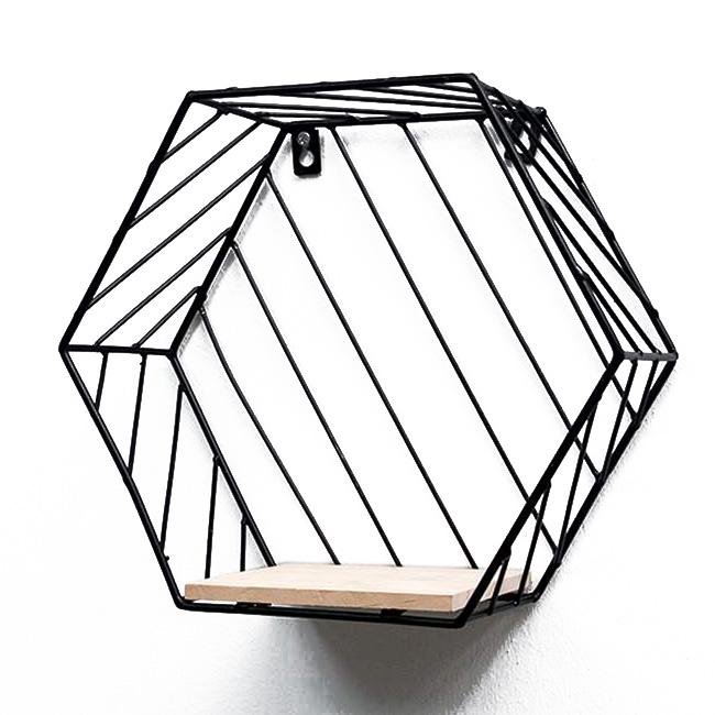 Kệ sắt trang trí treo tường hình lục giác