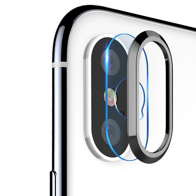 Miếng dán kính cường lực Camera và viền bảo vệ Totu cho iPhone X / XS / XS MAX - Hàng chính hãng