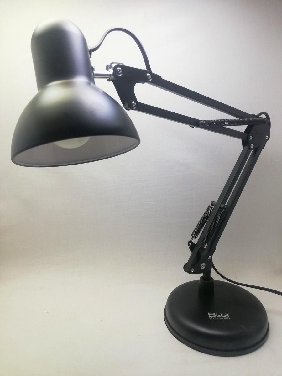 Đèn bàn vỏ đen kiểu Pixar cổ điển bao gồm bóng led
