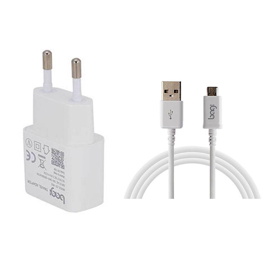 Combo Củ Sạc, Cáp Sạc Micro USB Bagi CB-M52 - Hàng chính hãng