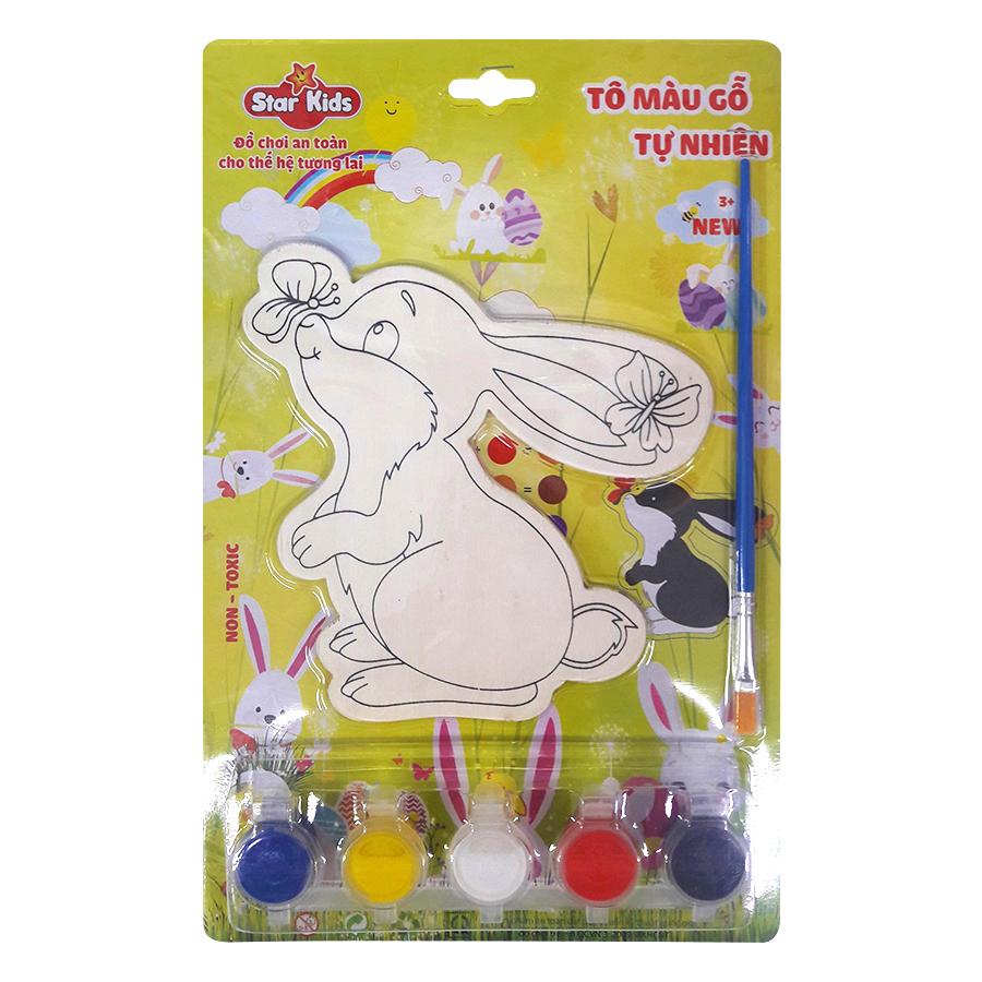 Bộ Tô Màu Gỗ Star Kids Con Thỏ  K201