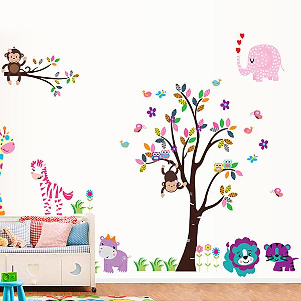 Decal Dán Tường Vườn Thú 6 Binbin EB49 (170 x 150 cm)