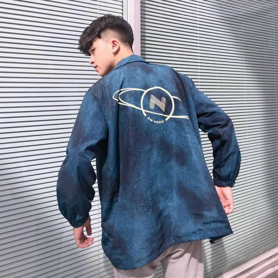 Áo khoác dù nam nữ loang phản quang chất lừ siêu ngầu cá tính