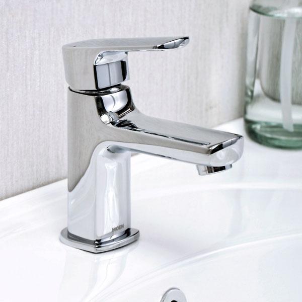Vòi chậu lavabo nóng lạnh xả nhấn Moen - V21121