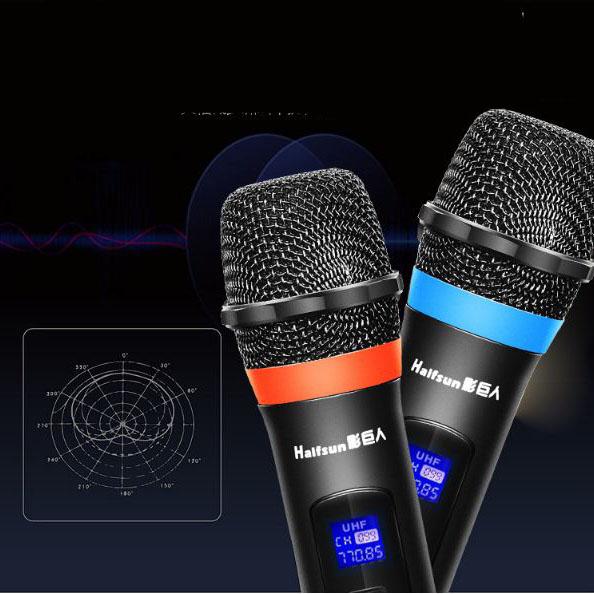 Micro không dây UHF chuyên nghiệp gồm  2 micro không dây F1