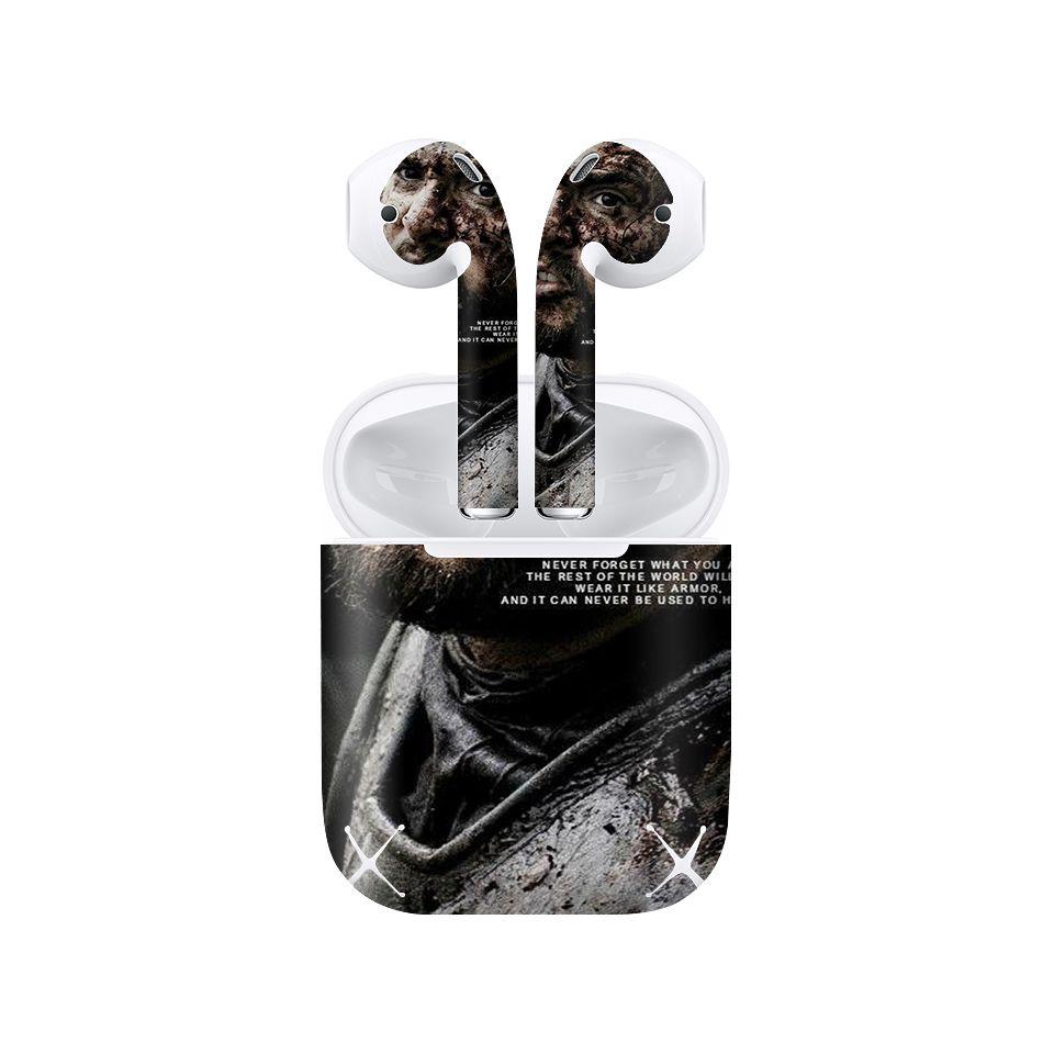 Miếng dán skin chống bẩn cho tai nghe AirPods in hình Game Of Throne - 1004 (bản không dây 1 và 2)