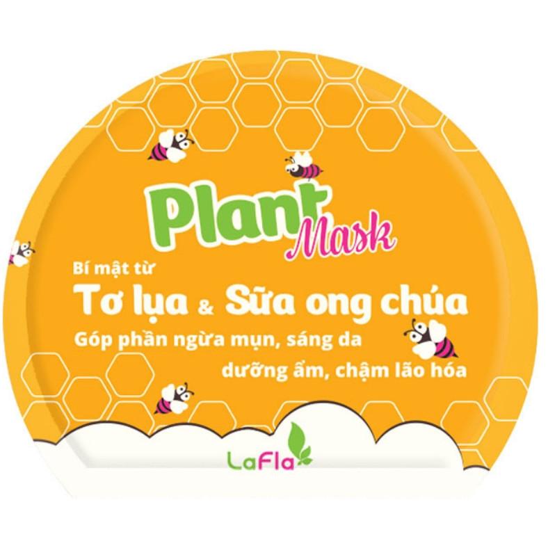 Mặt nạ tơ lụa sữa ong chúa LaFla Plant Mask Miếng rời 20gr